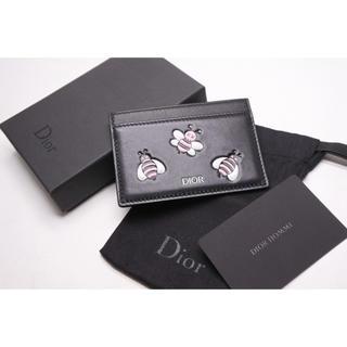 クリスチャンディオール(Christian Dior)のDIOR KAWS カーフスキン カードケース ディオール メン オム カウズ(名刺入れ/定期入れ)