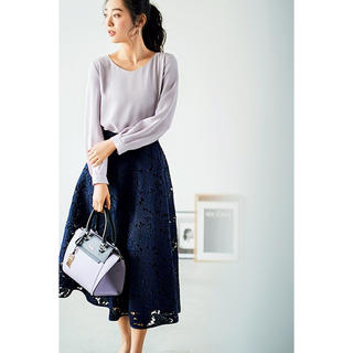 AG by aquagirl - 【新品未使用タグ付き】エージーバイアクアガール ネイビー レーススカート