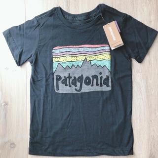 パタゴニア(patagonia)の【完売】タグ付き新品!パタゴニア キッズ Tシャツ 紺(Tシャツ/カットソー)