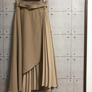 Lily Brown - Lily Brown リリーブラウン ベルト付き切替プリーツロングスカート