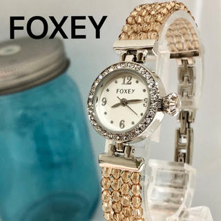 フォクシー(FOXEY)のFOXEY フォクシー時計 レディース腕時計 美品! 新品電池 79(腕時計)