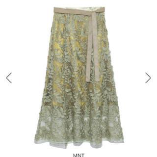 フレイアイディー(FRAY I.D)のフレイアイディー ❤︎ リーフ刺繍 レース スカート(ロングスカート)