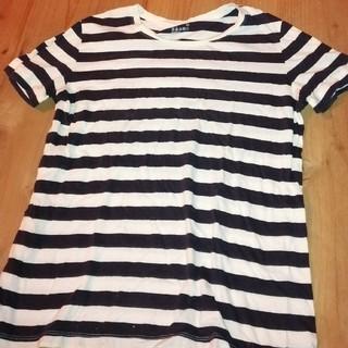 ムジルシリョウヒン(MUJI (無印良品))の無印良品 レディース ボーダーシャツ Lサイズ(Tシャツ(半袖/袖なし))