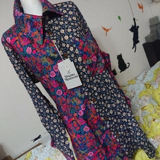 Vivienne Westwood - ヴィヴィアン ウエストウッド 新品 44 花柄 切替 BIG シャツ 羽織