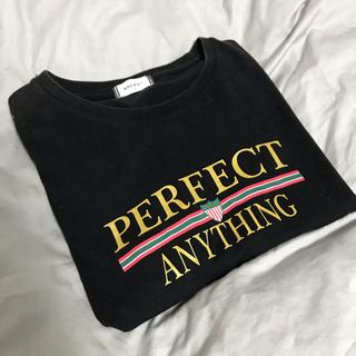ウィゴー(WEGO)のwego tシャツ 黒(Tシャツ(半袖/袖なし))
