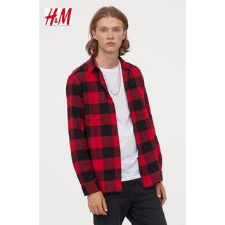 エイチアンドエム(H&M)の新品 H&M フランネルシャツ Mサイズ(シャツ)