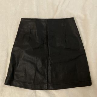 タイトスカート レザー ミニスカート(ミニスカート)