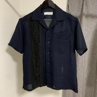 TOGA - TOGA VIRILIS 刺繍シャツ シースルー 開襟 オープンカラーシャツ