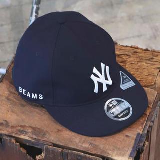 ビームス(BEAMS)のBEAMS Newera コラボ キャップ CAP ネイビー(キャップ)