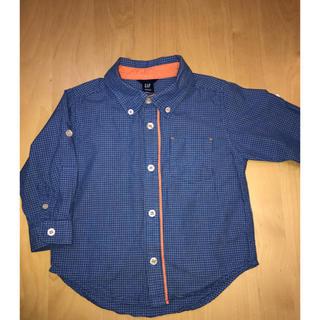 GAP 長袖シャツ 90㎝  シャツ 2歳 ロールアップ