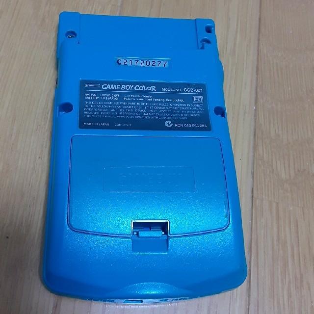 ゲームボーイ(ゲームボーイ)のゲームボーイ カラー グリーン エンタメ/ホビーのゲームソフト/ゲーム機本体(携帯用ゲーム機本体)の商品写真