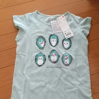 UNIQLO - ユニクロ 女児 フレンチスリーブシャツ 120