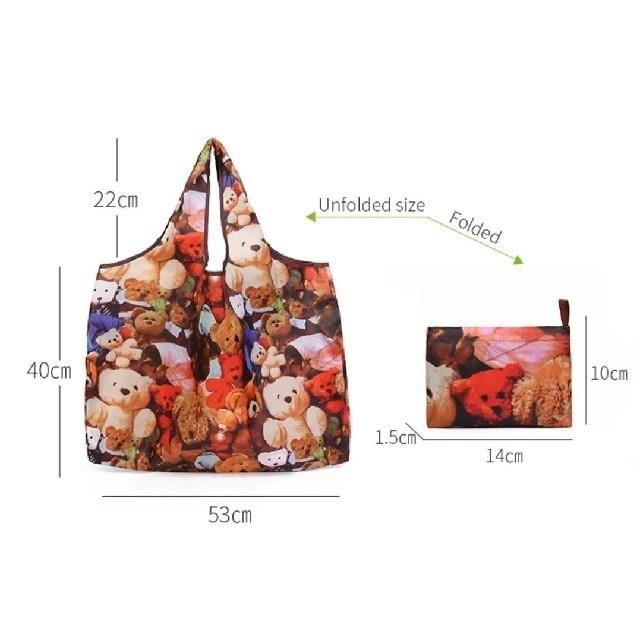 アンパンマン(アンパンマン)の【新品】折りたたみエコバッグ 2つセット レディースのバッグ(エコバッグ)の商品写真