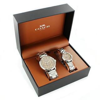 コーチ(COACH)のCOACH専用 ギフトセット時計収納BOX付きコーチ ペアウォッチ 腕時計 2本(腕時計(アナログ))