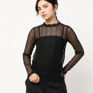 ローズバッド(ROSE BUD)の新品ROSE BUD レースロングスリーブTシャツ(シャツ/ブラウス(長袖/七分))