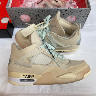 OFF-WHITE - 【26.5】NIKE AIRJORDAN4 off-white エアジョーダン4