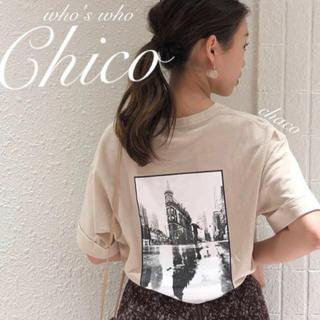 フーズフーチコ(who's who Chico)の新作♡¥4290【Chico】オーバサイズフォトTシャツ(Tシャツ/カットソー(半袖/袖なし))