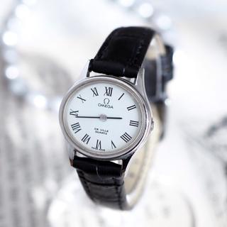オメガ(OMEGA)の美品✨オメガ 人気ローマン クォーツ 新品ベルト✨エルメス トゥモローランド(腕時計)