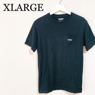 エクストララージ(XLARGE)のエクストララージ Tシャツ メンズ 黒 ビッグロゴ デカロゴ 胸ポケット(Tシャツ/カットソー(半袖/袖なし))