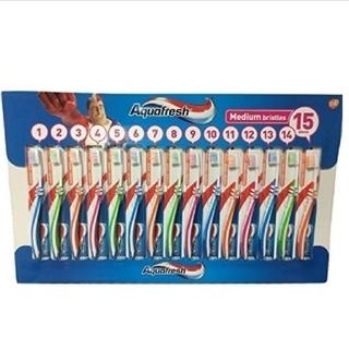 6本 匿名配送 アクアフレッシュ Aquafresh  ハブラシ 歯ブラシ (歯ブラシ/デンタルフロス)