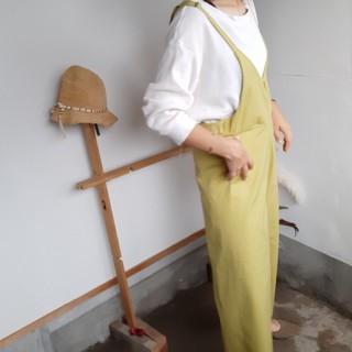 オリーブ色サロペット(サロペット/オーバーオール)