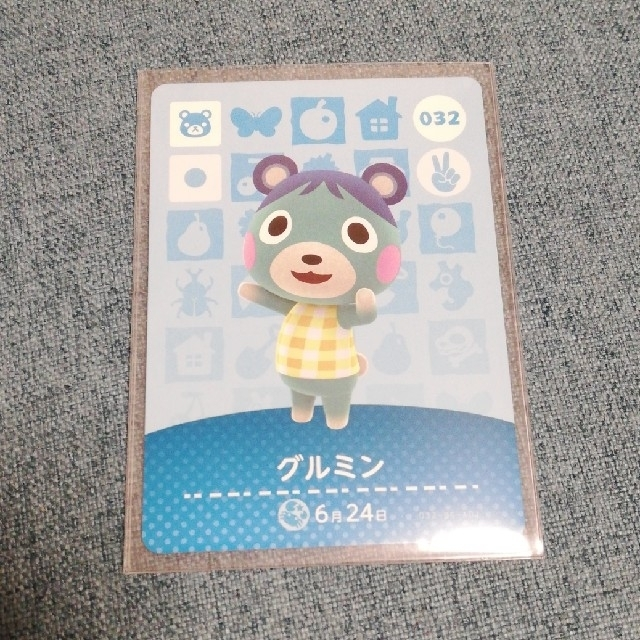 Nintendo Switch(ニンテンドースイッチ)のamiiboカード どうぶつの森 グルミン エンタメ/ホビーのゲームソフト/ゲーム機本体(その他)の商品写真