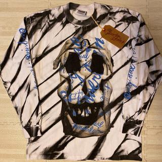 テンダーロイン(TENDERLOIN)の人気品! TENDERLOIN 長袖 Tシャツ ロンT ダリ ホワイト 白 M(Tシャツ/カットソー(七分/長袖))