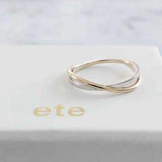 ete - 美品 ete エテ K10 レイヤード バイカラーリング