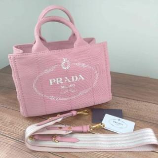 PRADA - 美品 PRADAプラダ カナパ 2WAY ショルダーバッグ・トートバッグ ピンク