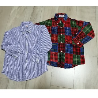 ミキハウス(mikihouse)の100cm 長袖シャツ2点セット(ブラウス)