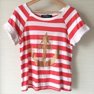 メルシーボークー(mercibeaucoup)のmercibeaucoup, jevous enprie! ボーダーTシャツ(Tシャツ(半袖/袖なし))