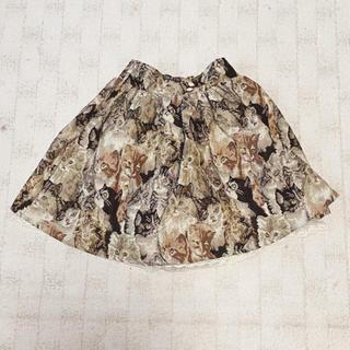 アマベル(Amavel)の猫柄スカート(ひざ丈スカート)