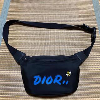 Dior - 19ss Dior KAWS ボディバッグ bee ショルダーバッグ カウズ 黒