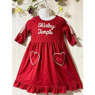 Shirley Temple - 【シャーリーテンプル】真っ赤で大きなロゴが可愛いワンピ♡