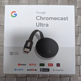 CHROME - Google Chromecast Ultra 4K 中古品