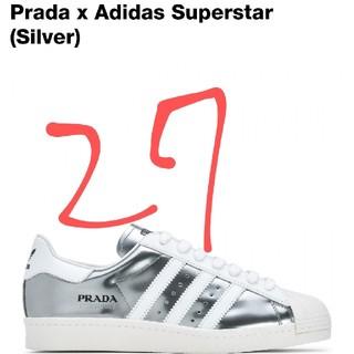adidas - adidas prada super star 27cm シルバー