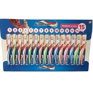 5本 匿名配送 アクアフレッシュ Aquafresh  ハブラシ 歯ブラシ(歯ブラシ/デンタルフロス)
