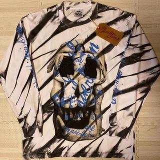 テンダーロイン(TENDERLOIN)の早いもの勝ち! TENDERLOIN 長袖Tシャツ ロンT ダリ スカル 白 M(Tシャツ/カットソー(七分/長袖))