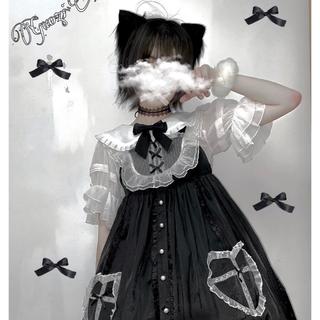 アンクルージュ(Ank Rouge)のゴシックロリータ やみかわ  ダイヤモンドハート 黒ジャンスカと白シャツのセット(ひざ丈ワンピース)