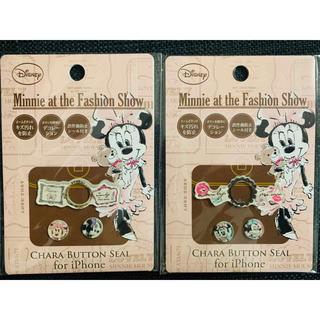 Disney - 【ディズニー】ホームボタン シール ミニー デコレーション