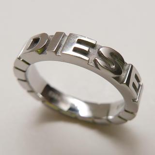 ディーゼル(DIESEL)のディーゼル DIESEL リング 指輪 10号 美品 シルバー ロゴ(リング(指輪))