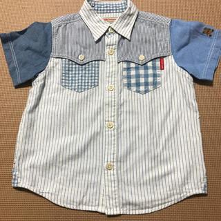 ミキハウス(mikihouse)の美品♡ミキハウス オリジナル 110 切り替えシャツ 半袖シャツ(ブラウス)