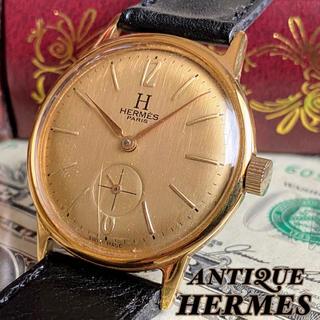 エルメス(Hermes)のOH済【一目惚れ】HERMES ★ エルメス 14KGP ビンテージ 腕時計(腕時計(アナログ))