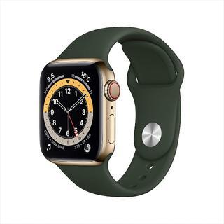 アップル(Apple)の【40mm / GPS + Cellularモデル】Apple Watch 6(腕時計(デジタル))