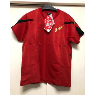 アシックス(asics)の定価4070円→14%オフ★アシックス ウォームアップシャツ / レッド / M(バレーボール)