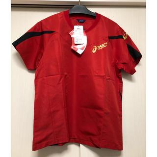 アシックス(asics)の定価4070円→14%オフ★アシックス ウォームアップシャツ / レッド / L(バレーボール)