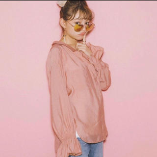 ヘザー(heather)のピンクシャツ*Heather(シャツ/ブラウス(長袖/七分))