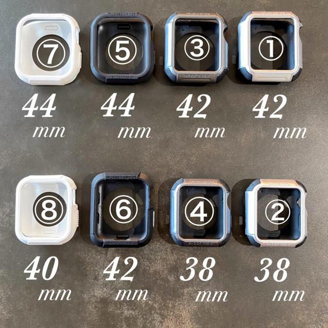 Apple Watch(アップルウォッチ)の⑧【海外人気商品】ホワイト/40mm アップルウォッチ  プロテクター ケース メンズの時計(その他)の商品写真
