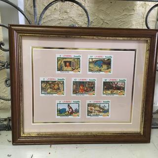 クマノプーサン(くまのプーさん)のくまのプーさん切手7枚フレーム付(使用済み切手/官製はがき)