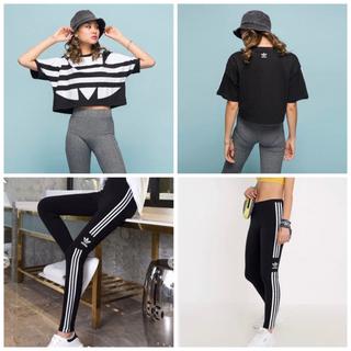 adidas - アディダスオリジナルス BIGロゴクロップドTシャツ&レギンス adidas